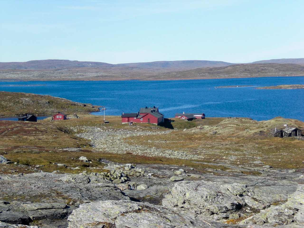 Hardangervidda Hütten Aussicht
