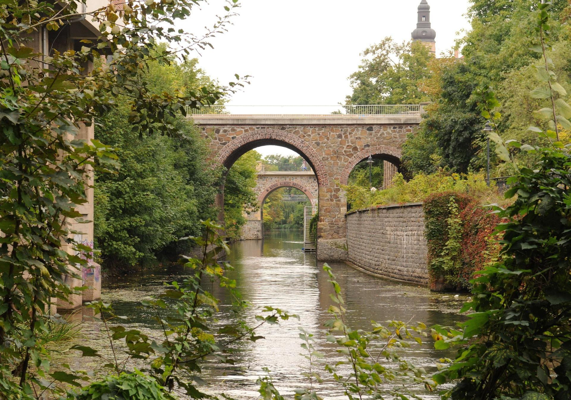 Kanal Brücke idyllisch