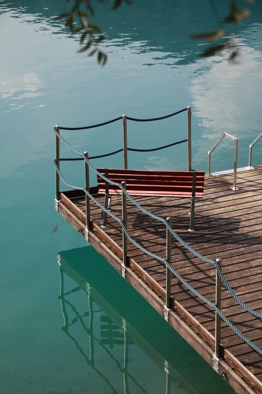Bootssteg am Lago di Ledro