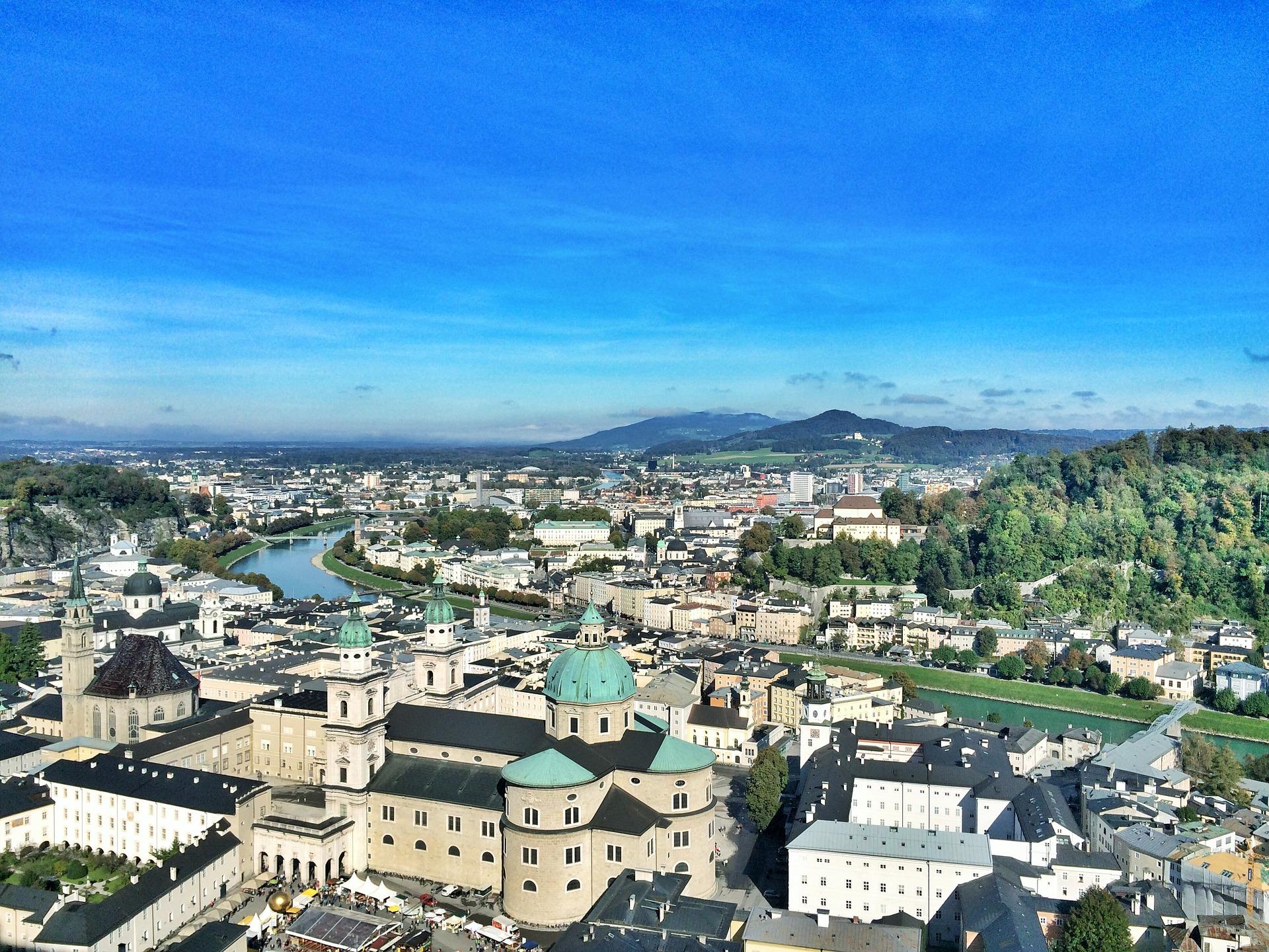 Die Stadt Salzburg in Österreich